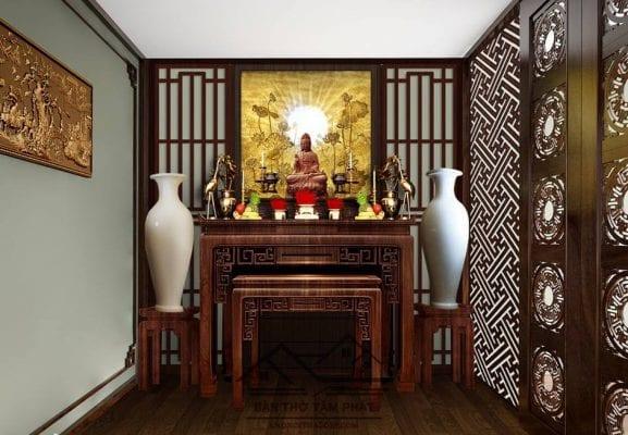 Bàn thờ Phật Quan Âm gồm những gì? Mẫu bàn thờ mẹ Quan Âm đẹp.