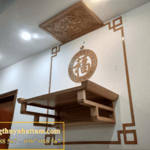 mẫu bàn thờ treo tường đẹp, giá rẻ, bàn thờ treo tường chung cư, căn hộ