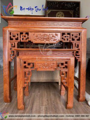 bàn thờ đứng gỗ hương đẹp