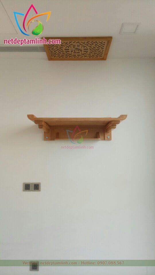 bàn thờ treo tường bông sen hậu