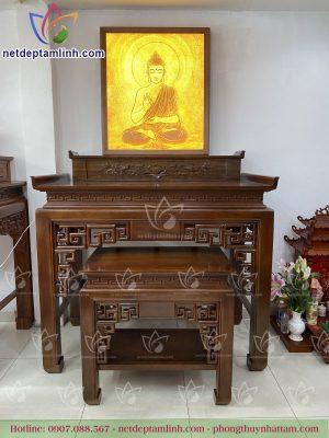 Bàn thờ đứng gỗ gụ mẫu hiện đại