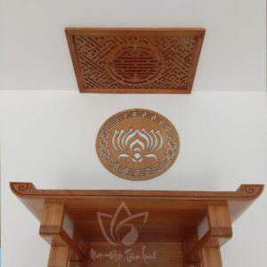 bàn thờ treo tường gỗ gõ đẹp