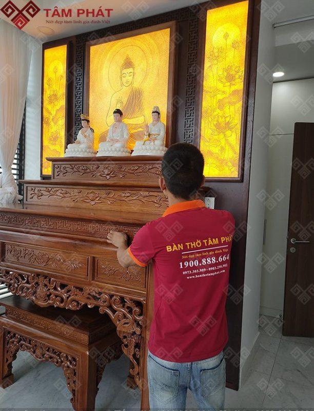 bàn thờ phật và ngũ tự