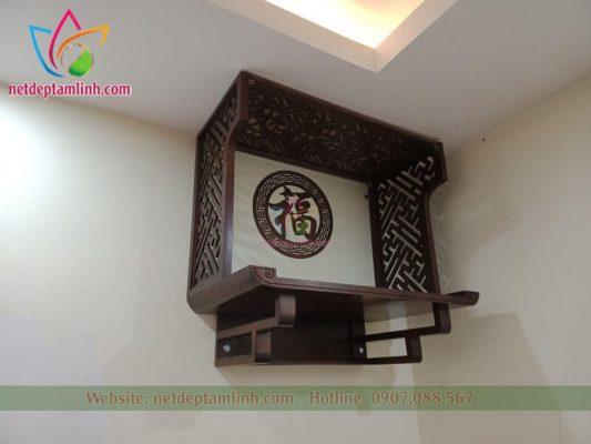 mẫu bàn thờ treo tường có vách ngăn kích thước 495*950, ...