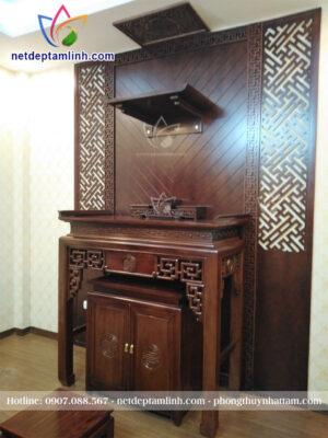 Bàn thờ treo tường kết hợp bàn thờ đứng