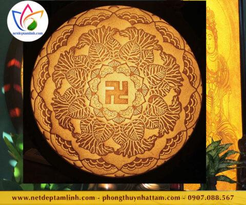 Tranh trúc chỉ Mandala chữ vạn đẹp