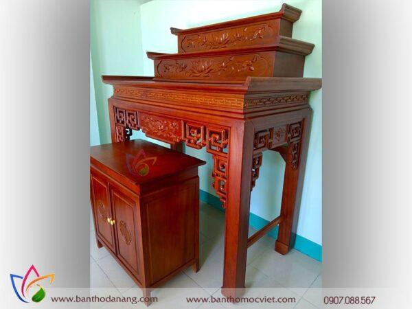 bàn thờ 2 tầng tam cấp gỗ gõ