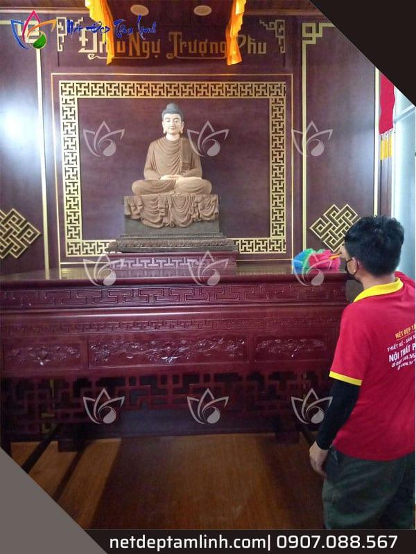Thi công bàn thờ phật tại gia cho khách hàng ở Hàm Nghi, TP Đà Nẵng