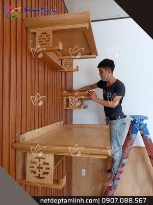Bàn thờ treo tường 3 tầng