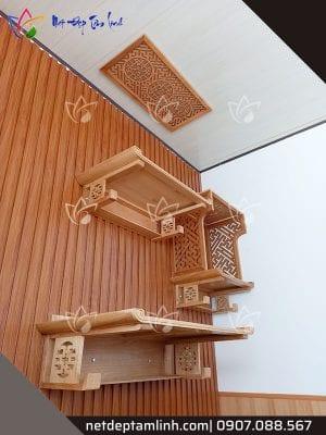 bàn thờ treo tường 3 cấp 3 tầng