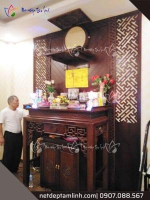 Việc sắp xếp bàn thờ phải theo nguyên tắc cao thấp - tả hữu