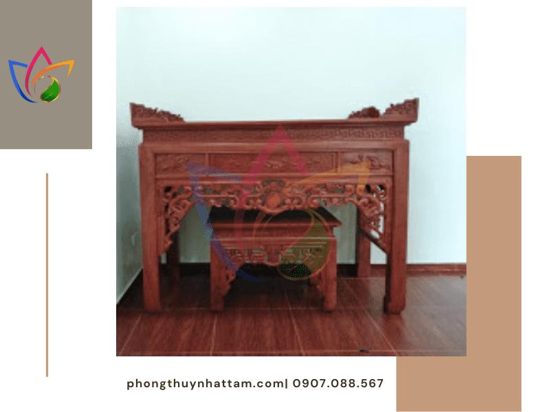 Thi công bàn thờ đứng và bàn thờ treo cho khách hàng ở Quảng Bình