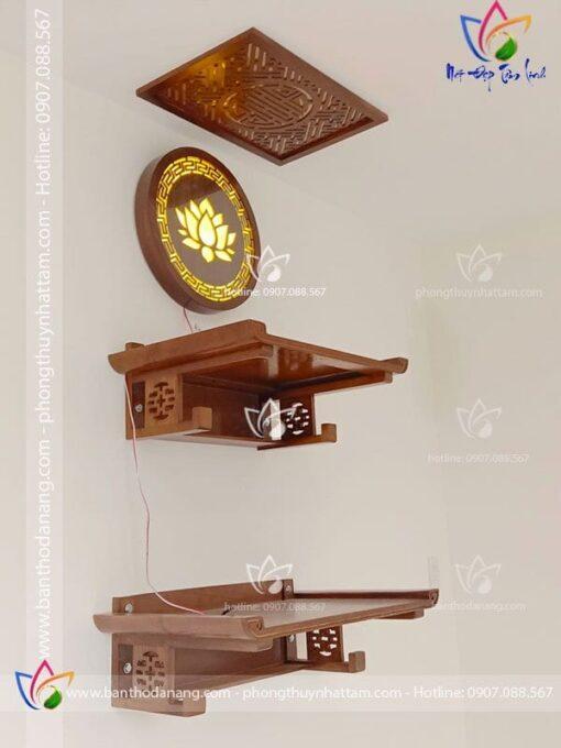 Bàn thờ treo tường 2 cấp hiện đại hợp cho mọi khống gian thiết kế
