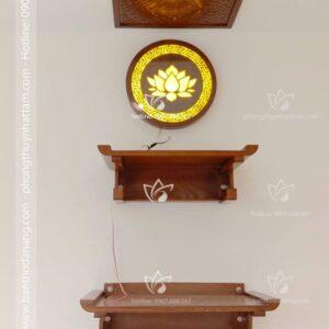 Bàn thờ treo tường 2 cấp BT009 thích hợp cho mọi không gian