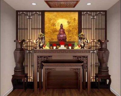 Bàn thờ Phật Bà Quan Âm treo tường | Những lưu ý khi thiết kế bàn thờ phù hợp chuẩn phong thủy – Bàn thờ Tận Tâm