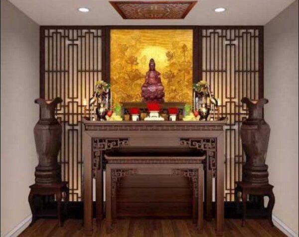 Bàn thờ Phật tại gia phải trang nghiêm và thanh tịnh