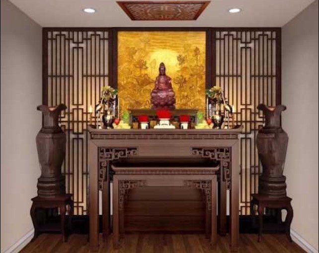 Bàn thờ Phật Bà Quan Âm treo tường   Những lưu ý khi thiết kế bàn thờ phù hợp chuẩn phong thủy – Bàn thờ Tận Tâm