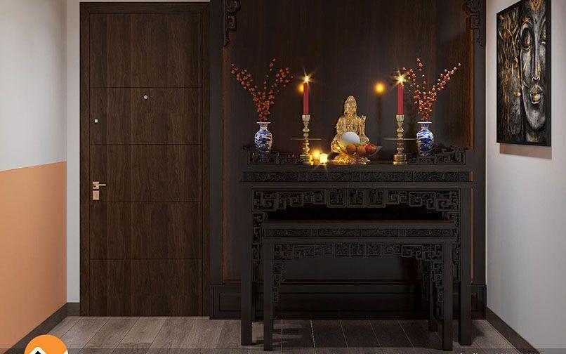 Bố trí bàn thờ Phật tại gia hợp phong thủy