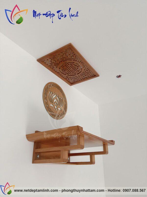 bàn thờ treo tường gỗ gõ