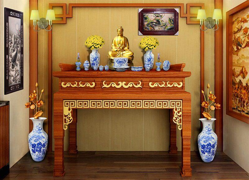 Bố trí bàn thờ Phật tại gia hợp phong thủy | VN THING