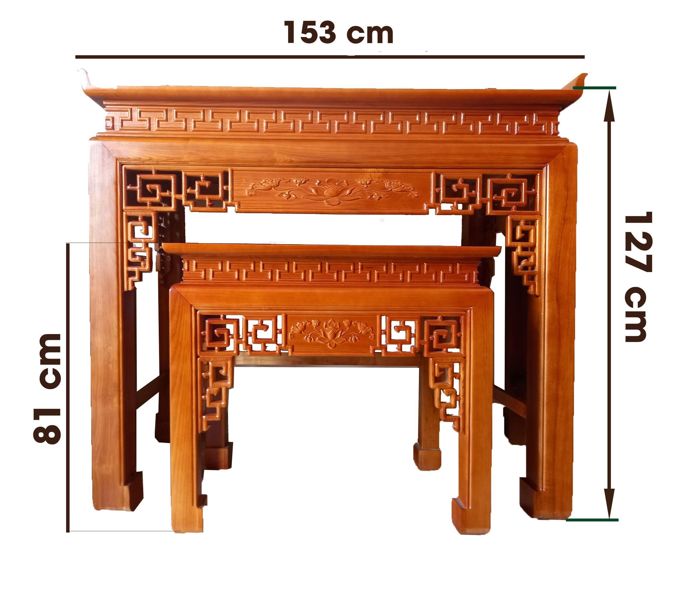 cách xác định chiều cao bàn thờ chuẩn phong thủy