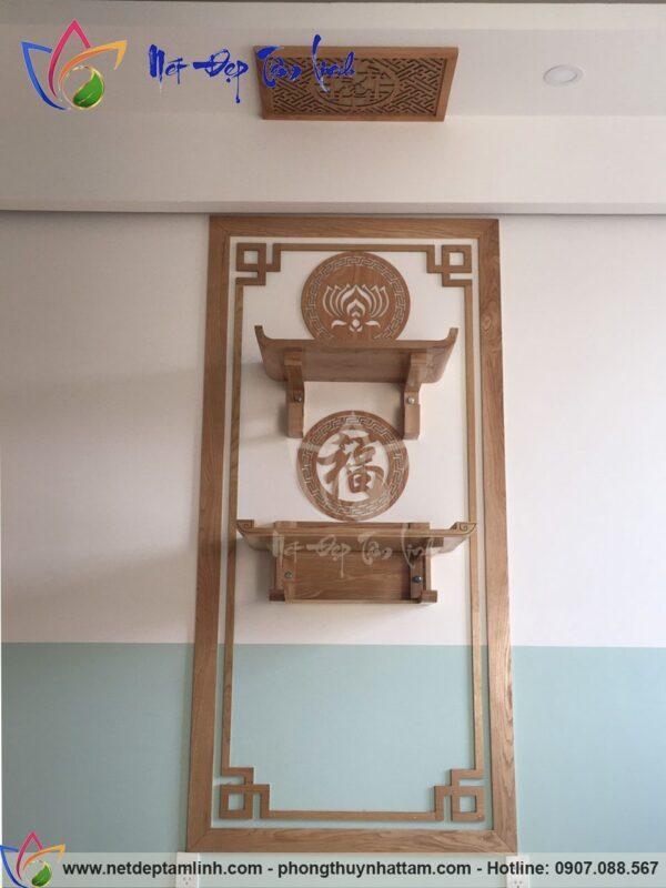 bàn thờ treo tường 2 tầng hiện đại