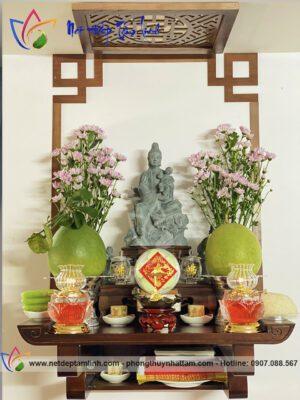 Trang thờ Phật treo tường đẹp, hiện đại giá rẻ tận xưởng sản xuất bởi Phong Thủy Nhất Tâm
