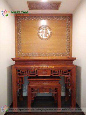 Mẫu bàn thờ gỗ Mít hiện đại 16