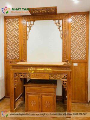 Mẫu bàn thờ gỗ mít đẹp hiện đại