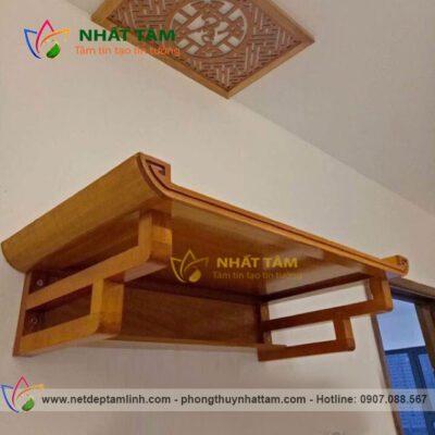 bàn thờ treo tường gỗ mít đẹp