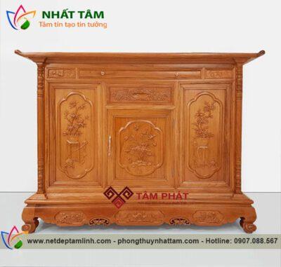 mẫu tủ thờ gỗ Mít đẹp